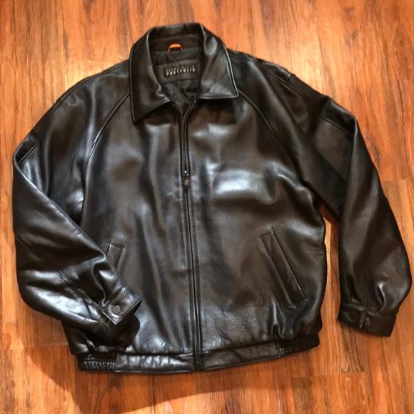 Perry Ellis Portfolio Leather Jacket. M 5a7f600d5521bedb427c57c2 bd729f246